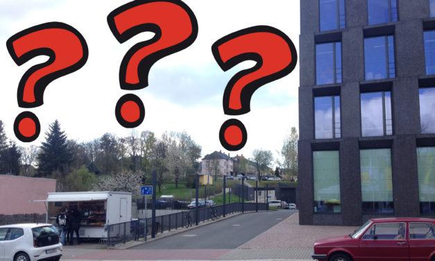 Was ist eigentlich dieses leere Ding neben dem Medienzentrum?