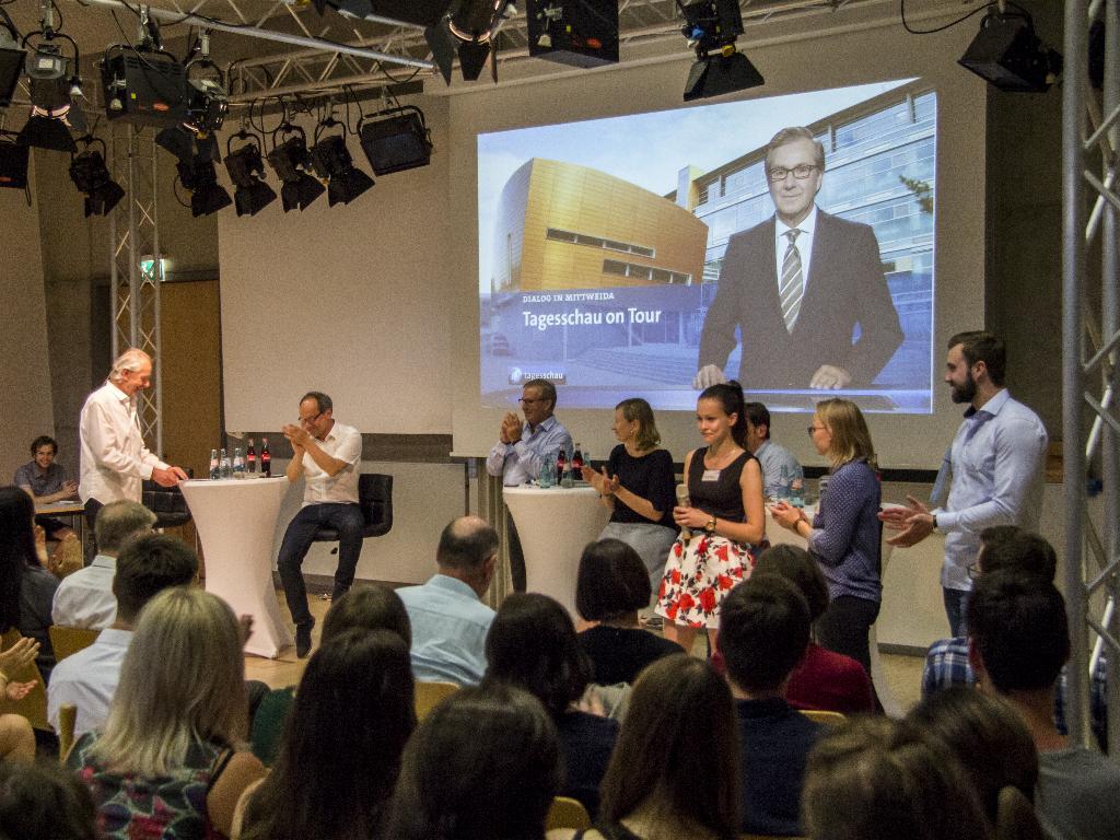 Die Kooperation der Tageschau mit Masterstudierenden der Hochschule Mittweida war ein Erfolg auf beiden Seiten. (Foto: Stefan Kirsten)