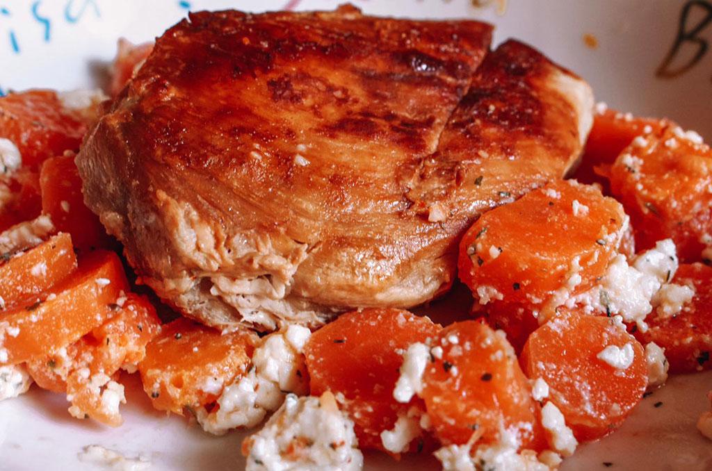 Möhren-Feta-Käse