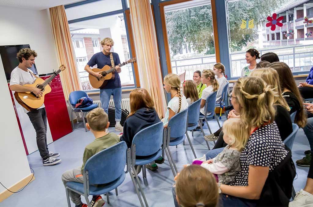 Sechs Konzerte in sieben Tagen: Bruckner waren 2019 Teil der Kinderklinikkonzert-Tour beim Auftakt in Garmisch-Partenkirchen.